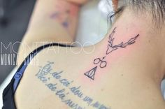 Simple Yet Pretty Harry Potter Tatto For The Neck
