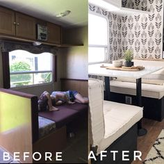 prewittriquierz - 0 results for camper makeover Camper Interior, Diy Camper, Interior Design, Camper Life, Camper Table, Diy Caravan, Rv Life, Rv Redo, Travel Trailer Remodel