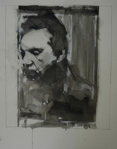 "bblacha: francis bacon no. 2 by Mark Horst on Flickr. 22"" x 30"", ink and conte on paper. 2008"