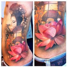 Artist: Ael Lim, Singapore  Geisha Tattoo. AMAZING work
