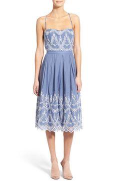 KENDALL + KYLIE Cotton Eyelet Halter Dress | Nordstrom