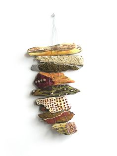 Sculpture made with natural found objects by Christine Nickos