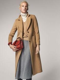 Fall Winter 2017 Women´s LONG CAMEL COAT at Massimo Dutti for 325. Effortless elegance!