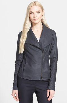 Vince Leather Scuba Jacket (Nordstrom Exclusive)