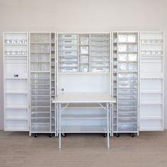 Craft Room Storage, Craft Organization, Storage Spaces, Ikea Storage, Paper Storage, Bedroom Organization, Craft Rooms, Storage Cabinets, Craft Storage Ideas For Small Spaces