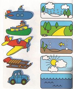 This page has a lot of free printable Transportation worksheet for kids,parents and preschool teachers. Preschool Learning Activities, Toddler Learning, Preschool Worksheets, Toddler Preschool, Preschool Activities, Teaching Kids, Alphabet Worksheets, Toddler Worksheets, Teaching Spanish
