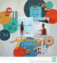 Spring Break scrapbook layout by Lisa Dickinson for @basic