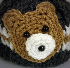 Bear Head Applique #crochet pattern (free)