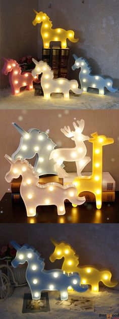 $15.99+ Free Shipping. Unicorn Led Night Light. 4 colors and 3 shapes available. Such a cute home craft! See more home crafts in banggood.