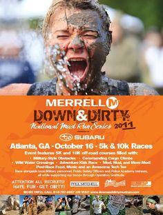 Merrel Down & Dirty National Mud Run Series, Atlanta, GA Oct. 14, 2012