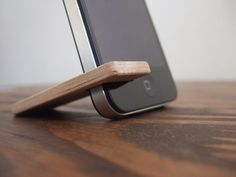 This Cherry Wood iPhone stand is a great idea! You could watch a movie on your iPod