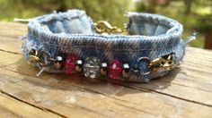 Denim Bracelet by DenimReDooz on Etsy