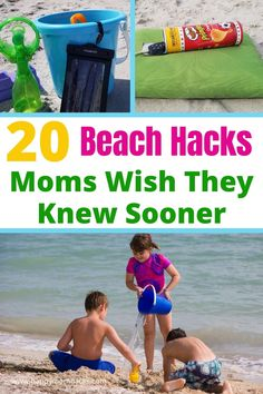 20 Sanity Saving Beach Hacks for Kids. Genius Beach tips for a stress-free day at the beach for families. How to organize your day, hide money, keep little kids safe, keep your phone dry, a cool fitted sheet trick, and more. Simple tricks to help you not only survive a day at the beach with the kids but enjoy your time at the beach making memories with your family. Beach Tips, Beach Hacks, Beach Fun, Beach Activities, Travel Activities, Visit Florida, Florida Beaches, Family Vacation Destinations, Beach Vacations