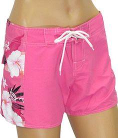Women Board Beach Pink Shorts - Maui