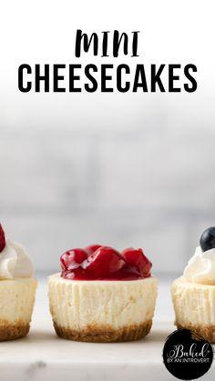Mini Cheesecake Recipes, Homemade Cheesecake, Cupcake Recipes, Cookie Recipes, Mini Cheesecake Cupcakes, Mini Cupcakes, Easy Desserts, Recipes For Desserts, Best Easy Dessert Recipes