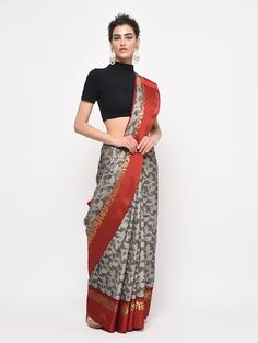 Banarasi Kora Silk Tanchui Saree with Rich Pallu and Blouse Piece Kamiz, Best Budget, Printing On Fabric, All Things, Floral Design, Your Style, Classy, Saree, Gowns