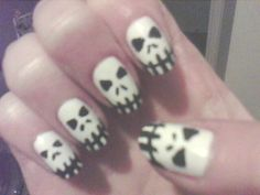 These were the nails I did for Halloween.  Sorry for the poor quality pic, I had to take it with my phone at the time.