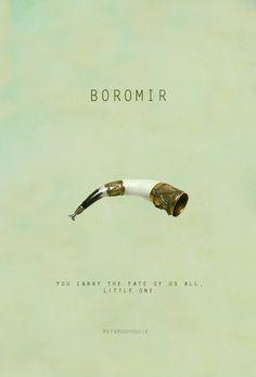 Boromir, LOTR minimalist posters
