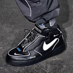 more photos c5165 11684 C2H4® Black Sneakers, Shoes Sneakers, Air Force 1 Mid, Air Force Ones