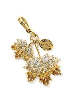 Juicy Couture 'Pavé Leaf' Charm 2010