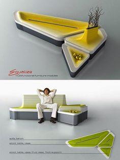 Multifunctional Furniture Modules EQUALIZE