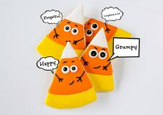 The Happiest Little Candy Corn Cookies by @the BearFoot Baker (Lisa)