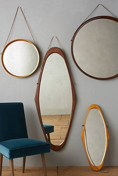 Polished Wood Mirror
