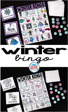 Play Bingo with your elementary age students for a fun winter themed game! Perfect for large groups in your classroom or small review groups. Add this to your winter lesson plans or winter class party with 30 unique winter Bingo boards! Teaching cards are also included in this fun game for young children! Black and white options available to save your color ink.