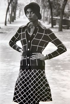 Naomi Sims, 1970's. Widely credited as the first African-American supermodel.