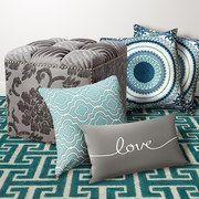 Turquoise & Gray Textiles