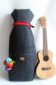 Concert ukulele case & ribbon lei Ready to ship / by ukuhappy
