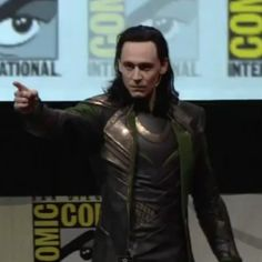 Tom Hiddleston Attends 'Thor' Comic-Con Panel as Loki!: Photo Tom Hiddleston takes the stage at the Thor: The Dark World panel as his villainous character Loki during 2013 Comic-Con on Saturday (July at the Convention Center's… Thomas William Hiddleston, Tom Hiddleston Loki, Marvel Movie Releases, Star Wars, The Dark World, San Diego Comic Con, Loki Laufeyson, The Villain, Marvel Movies