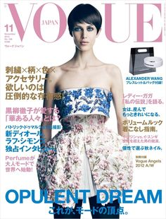 Vogue Japan november issue floral dress #fashion #photography