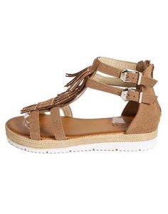 ΝΕΕΣ ΑΦΙΞΕΙΣ :: Σανδάλια Fringes and Strass Taba - OEM Espadrilles, Sandals, Brown, Shoes, Fashion, Espadrilles Outfit, Moda, Shoes Sandals, Zapatos