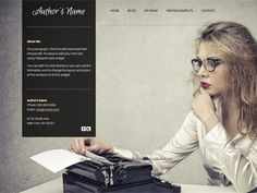 An easy to customize authors website template with informational pages and a contact form. Only on Talkspot.com