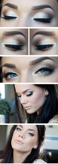 silver eyeshadow - dramatic!