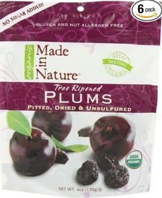 Made in nature organic dried & unsulfured Plums