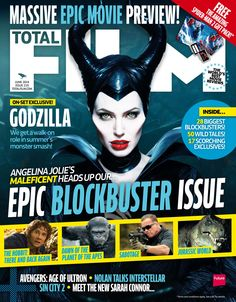Cover #TOTALFILM Magazine 219, April 2013. Angelina Jolie's Maleficent heads up our epic blockbuster issue.