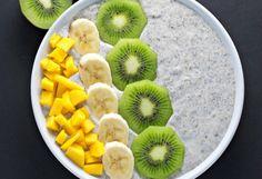 Chia Seed Breakfast Bowl -- 32 Healthy High-Fiber Breakfast Ideas That Will Keep You Full Chia Seed Breakfast, High Fiber Breakfast, Low Carb Breakfast, Breakfast Bowls, Breakfast Recipes, Breakfast Ideas, Vegan Breakfast, Free Breakfast, Healthy Desayunos