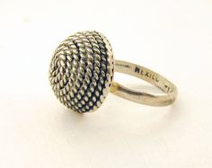 Sterling Rope Knot Ring by Inretrospectshop on Etsy, $23.00