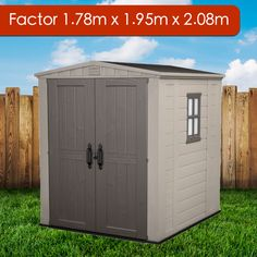 This small Keter resin garden shed, perfect for inner-city areas where space is limited. Garden Storage Shed, Garden Sheds, Back Gardens, Outdoor Gardens, Plastic Sheds, Transom Windows, Roof Structure, Countries Around The World, Double Doors