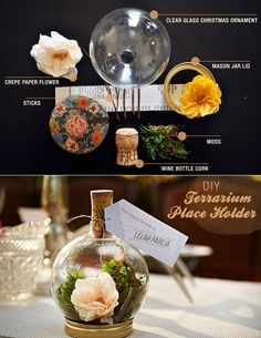 21 Simple Ideas For Adorable DIY Terrariums - light bulb, tea cup, cider jug, christmas ornament, pendant lamps, table placeholder, terrarium house, cake stand,