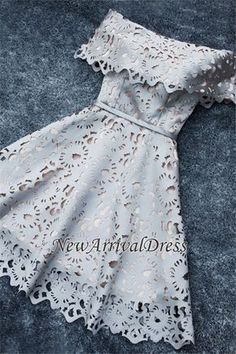 Lace Off-the-Shoulder Simple Short A-Line Homecoming Dress Homecoming Dresses_Special Occasion Dresses_High Quality Wedding Dresses, Prom Dresses, Evening Dresses, Bridesmaid Dresses, Homecoming Dress - - zea - Homecoming Dresses 2017, Hoco Dresses, Dance Dresses, Bridesmaid Dresses, Dress Prom, Formal Dresses, Homecoming Corsage, Rue 21 Dresses, Casual Dresses