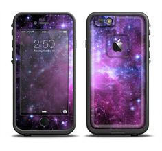The Purple Space Neon Explosion Apple iPhone 6/6s Plus LifeProof Fre Case Skin Set from DesignSkinz