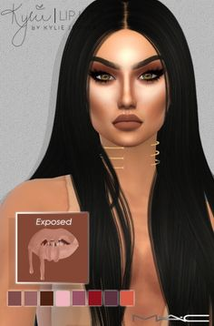 Kylie Lip Kit Collection   The newest shade Exposed at MAC Cosimetics • Sims 4 Updates