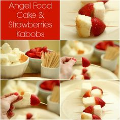 My Soul is the Sky: angel food cake with strawberries kabobs
