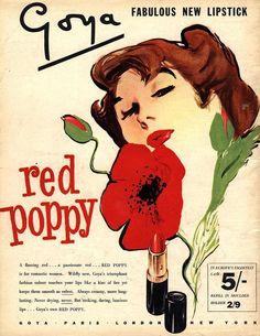 Goya 'Red Poppy' Lipstick Ad
