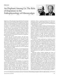 An Elephant Among Us: The Role of Dopamine in the Pathophysiology of Fibromyalgia PAGE 1