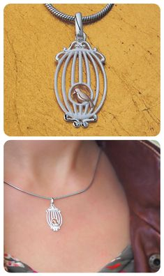 Necklace  ||  925 Sterling Silver ||  14k Gold-plated Bird  ||