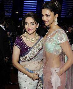 Madhuri Dixit and Deepika Padukone at Filmfare Awards 2012